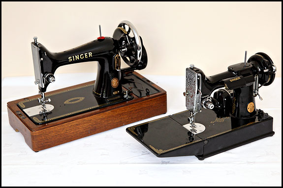 Picture of Singer 221 Featherweight with Singer 99