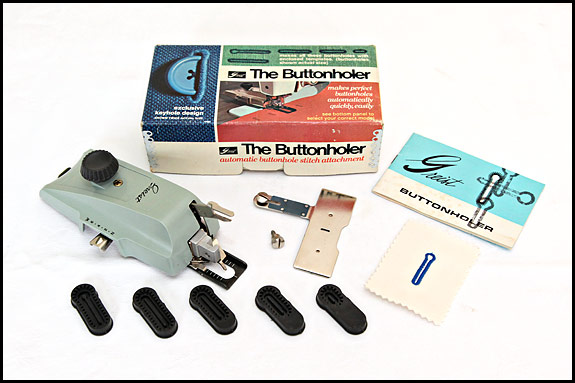 Picture of complete Greist buttonholer model #1