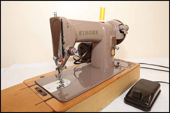 Photo of Singer 185K sewing machine, front view
